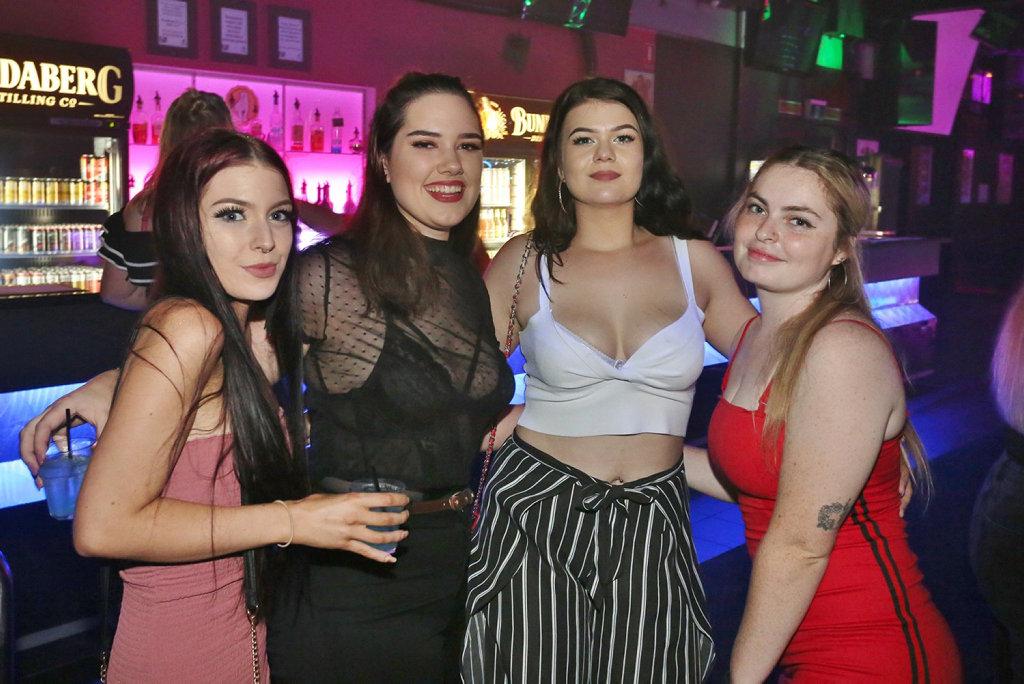 Image for sale: L-R Chay Xxavier, Chloe Ryan, Star O'Mara and Bronwyn McDonald at Zodiac Nightclub.