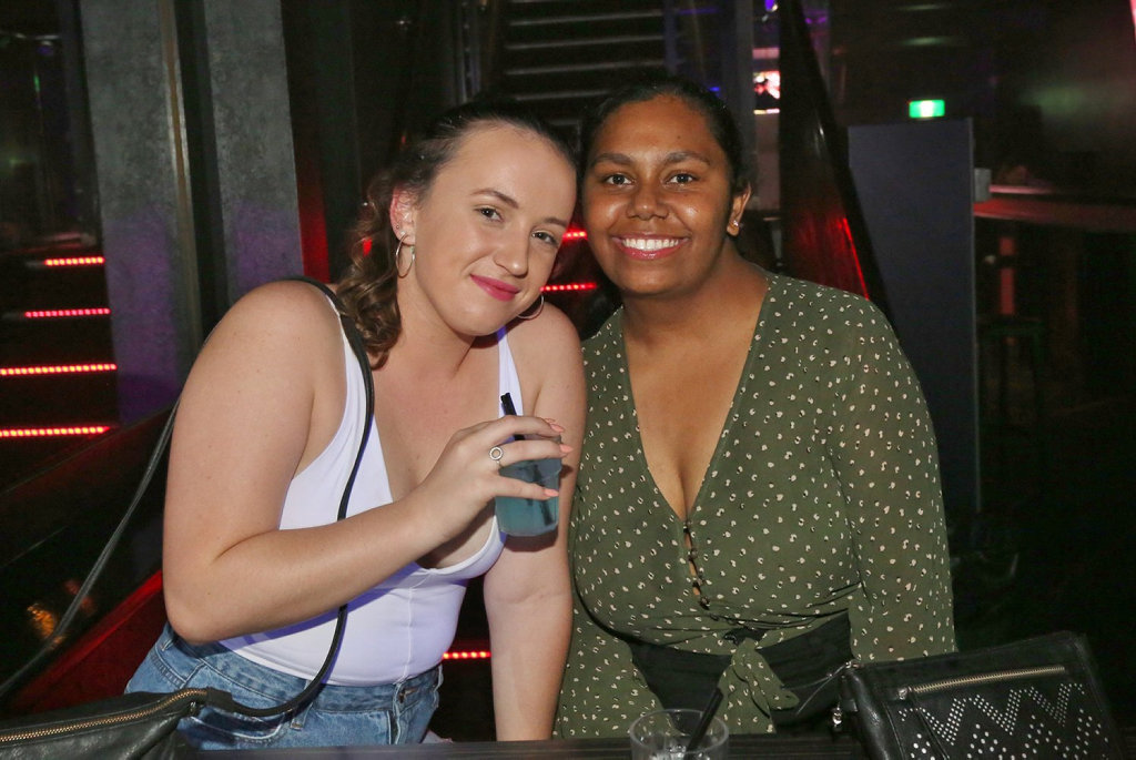 Image for sale: L-R Helena Long and Akita Beezley at Zodiac Nightclub.