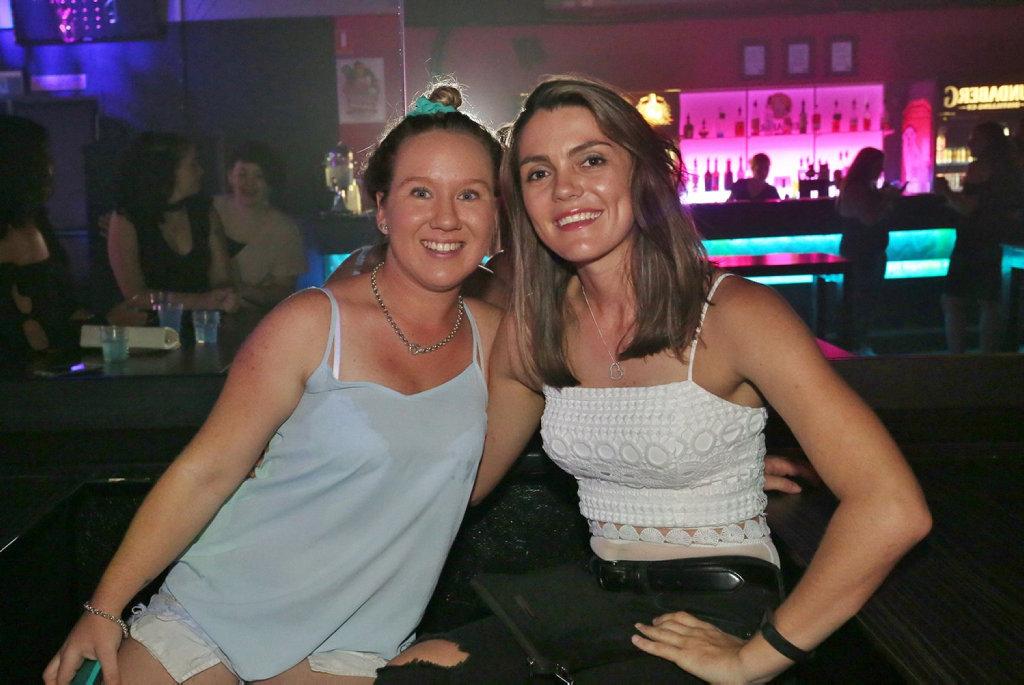 Image for sale: L-R Chloe McLachlan and Brianna Deeth at Zodiac Nightclub.