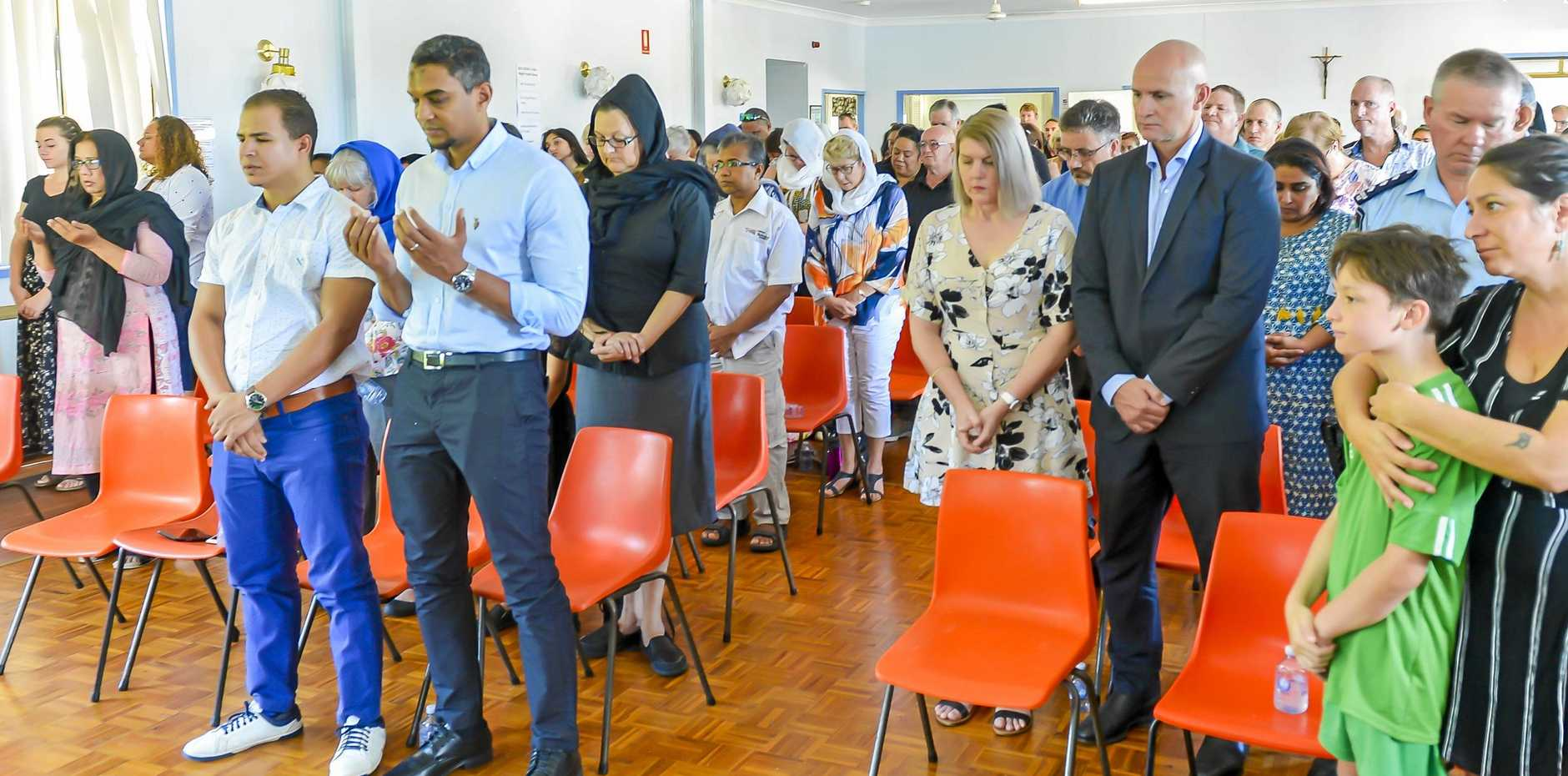 The community of Gladstone gathered for a morning of prayer for victims of the Christchurch terror attack.