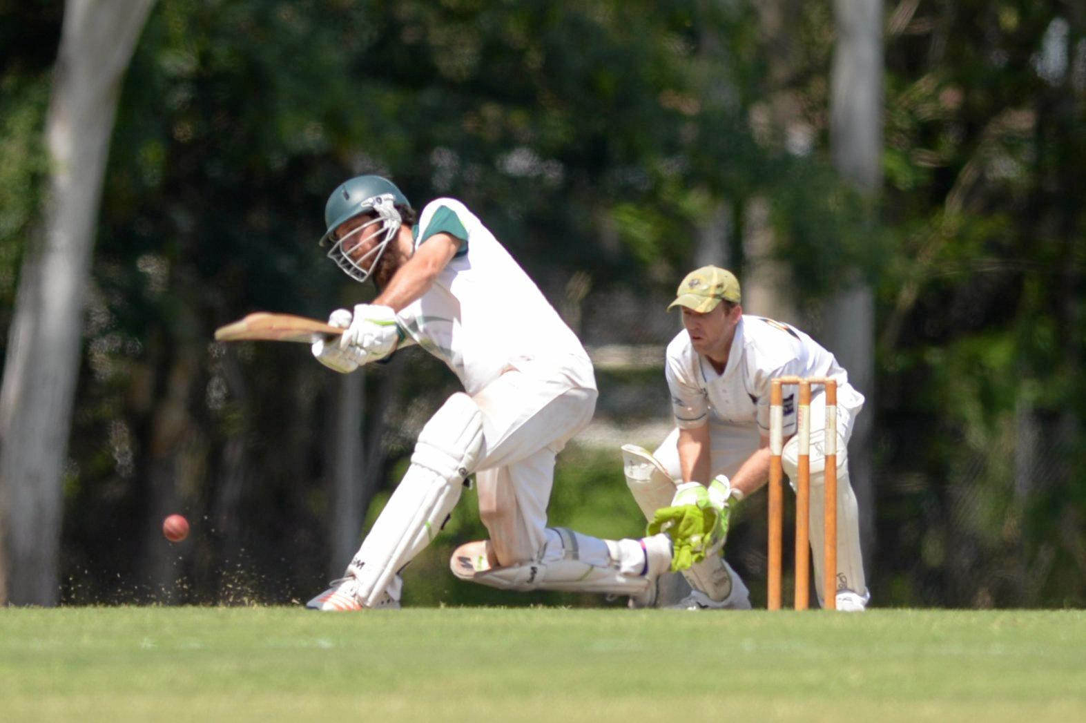 FULL FLIGHT: Frenchville's Luke Taylor scored an unbeaten 24 in his team's win over Gracemere in the opening game of the Rockhampton A-grade grand final series on Saturday.