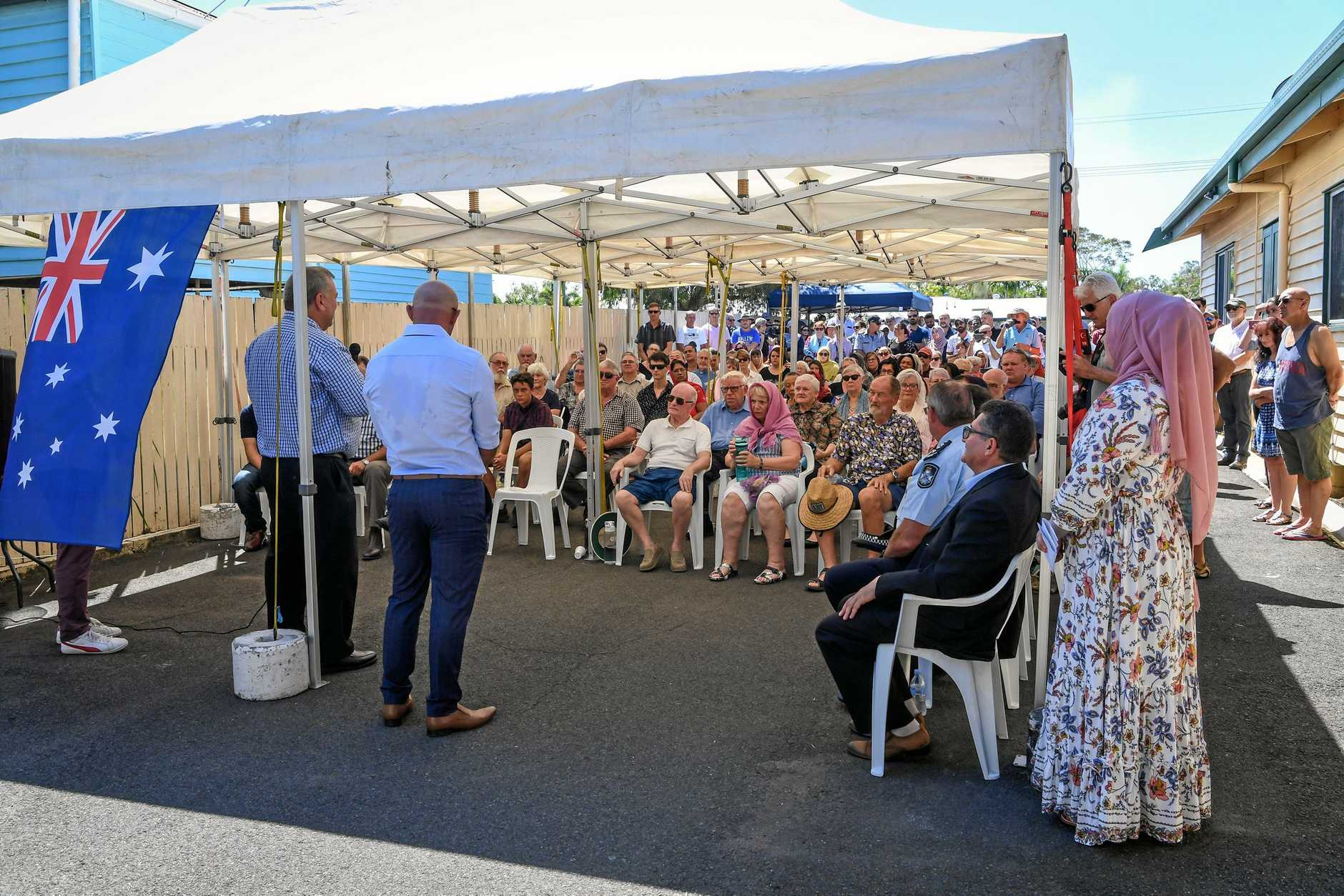 A large turn-out attended the open day at the Bundaberg Mosque on Saturday.