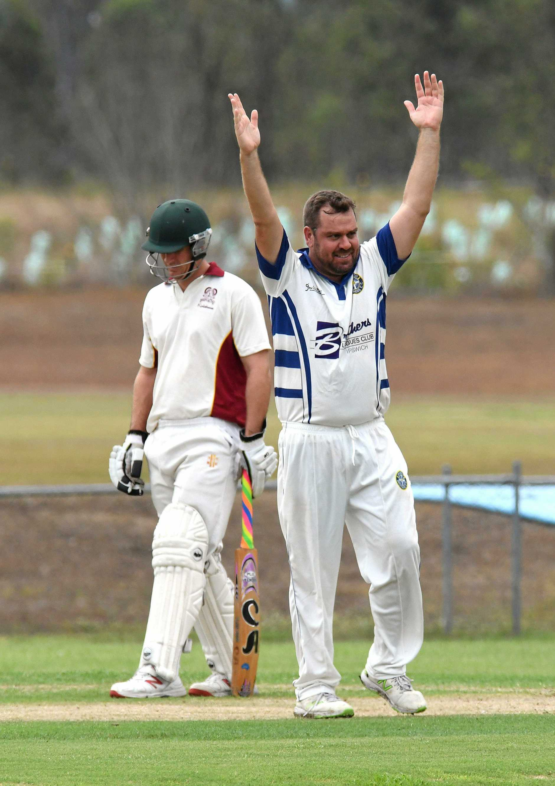 Brothers V Centrals cricket grand final played at Ivor Marsden on Saturday. Dave Richardson celebrates the wicket of Sam Joseph.