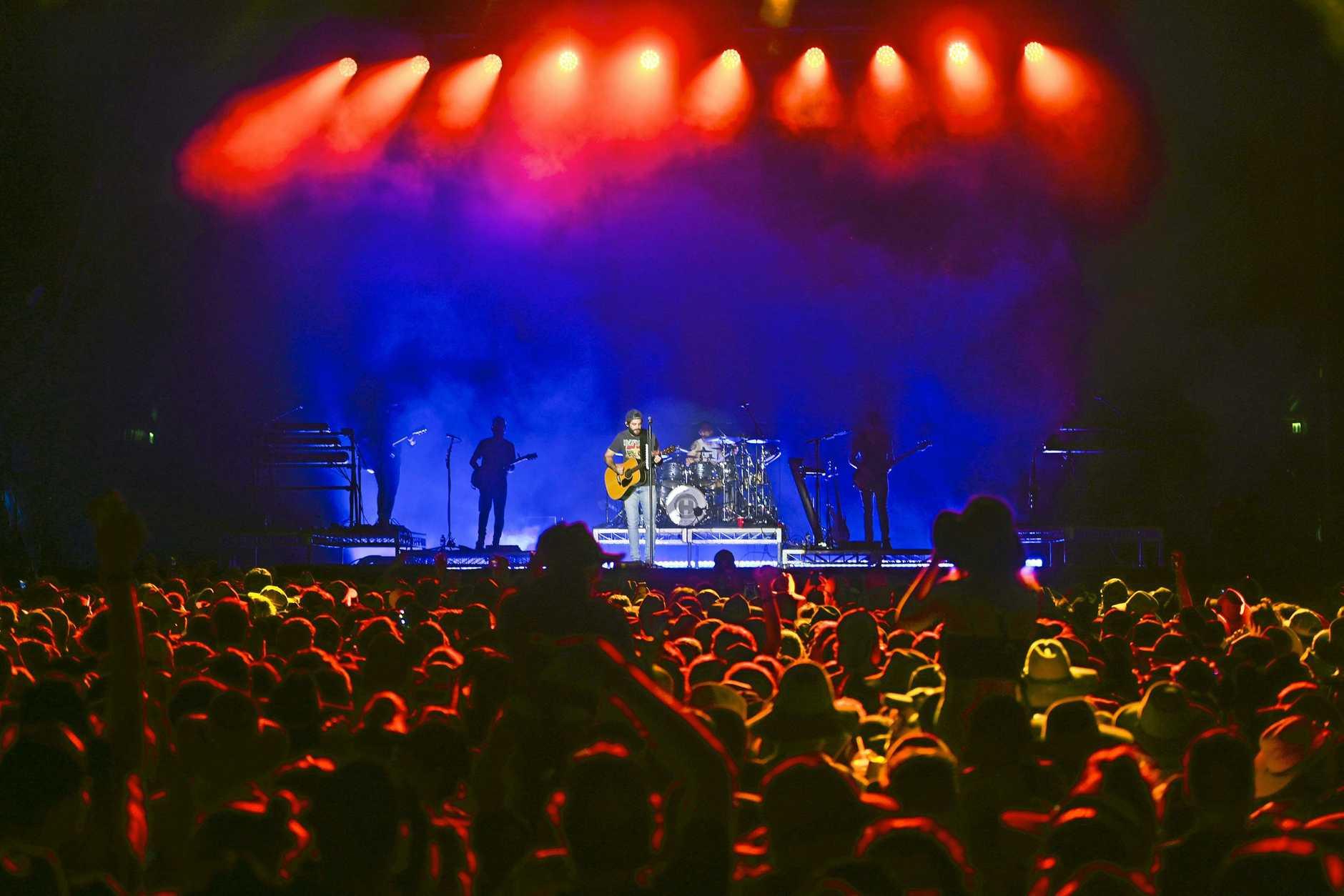 Thomas Rhett on stage at CMC Rocks.
