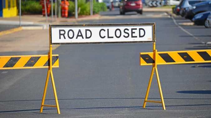 Traffic diversion information for motorists due to crash