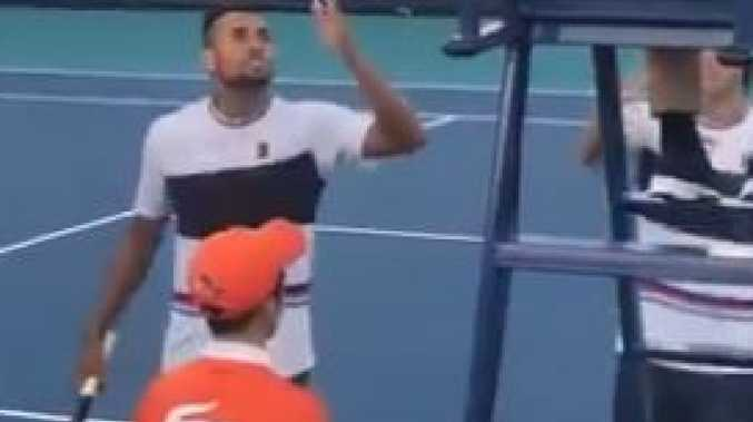 'F*****g disgrace': Kyrgios explodes at official