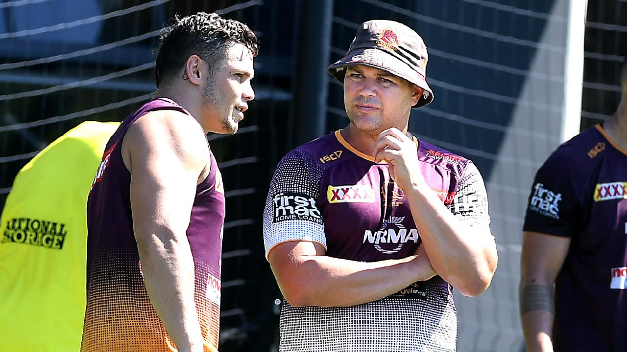 Seibold had the Broncos train in the heat. AAP image, John Gass.