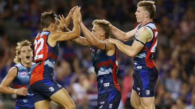 Aaron Naughton's move forward has been a game-changer for the Bulldogs. Picture: Michael Klein