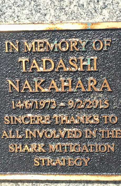 The memorial for Nakahara on the boardwalk at Shelley Beach. Photo: Ian Lloyd Neubauer.