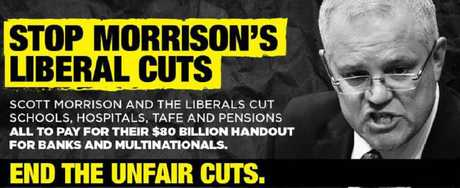 Part of Labor's new campaign.