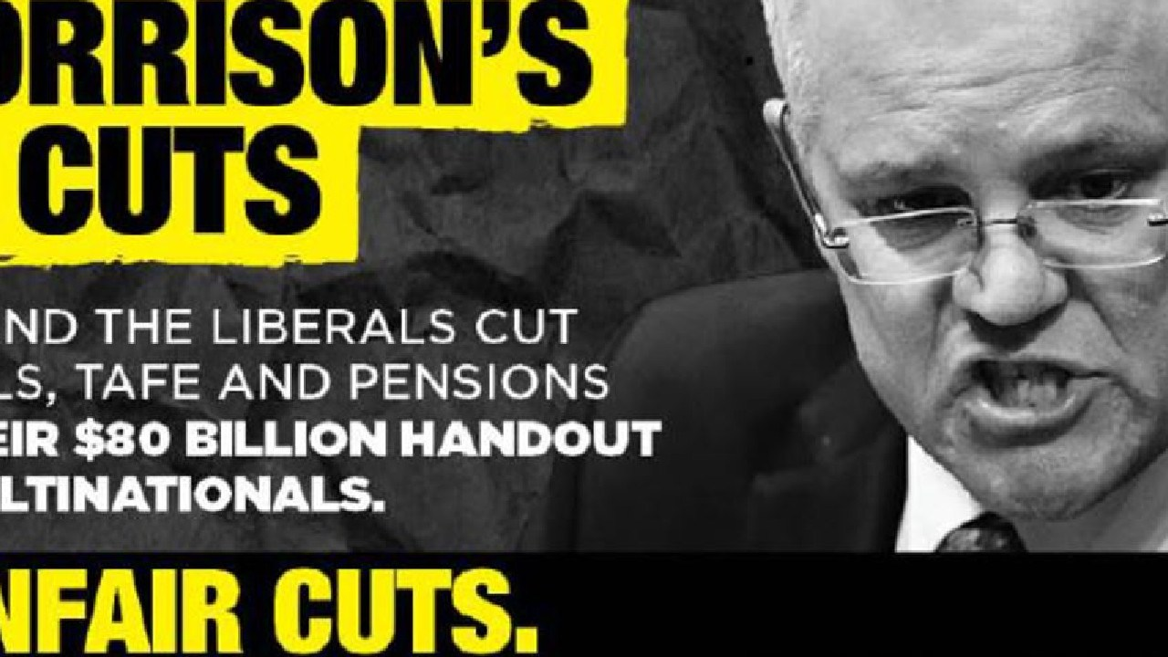 Part of the new Labor campaign launching today.