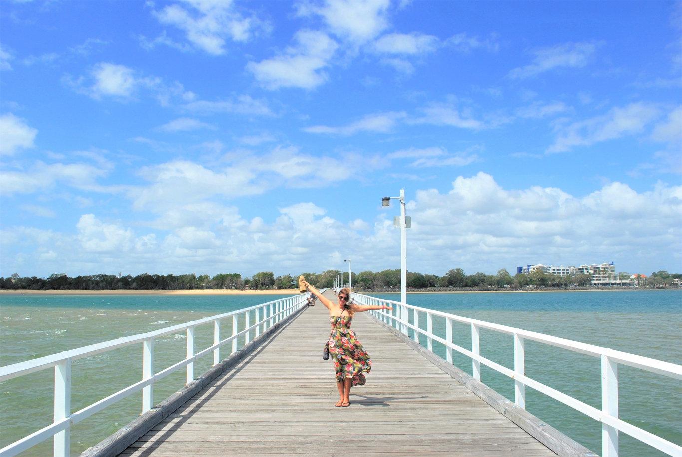 Tina Satchell at Urangan Pier.
