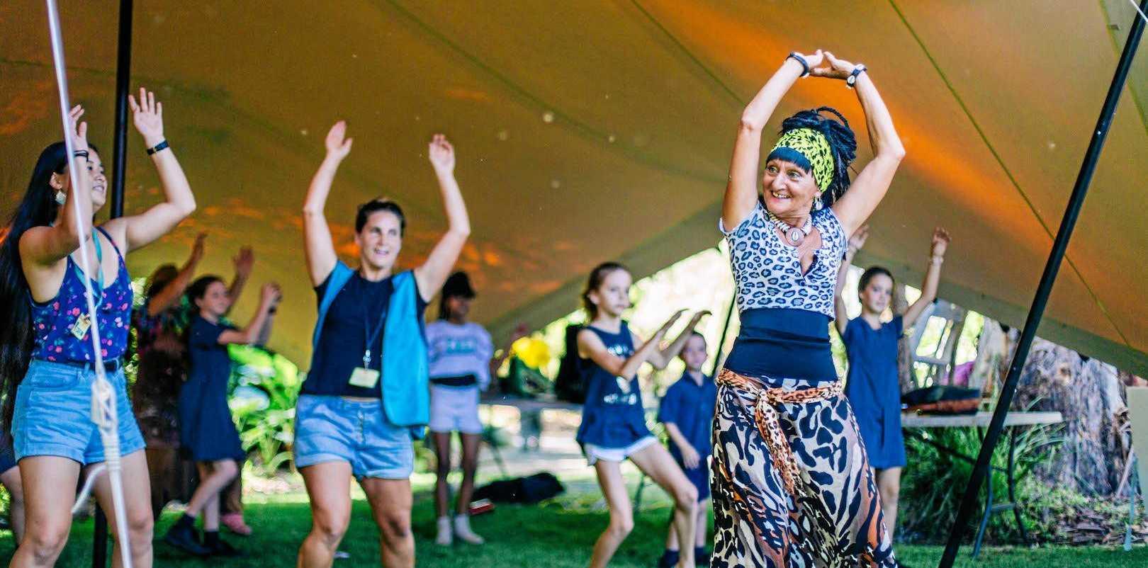PERFECT HARMONY: Maitoumbi in action leading festival-goers at last year's Harmony Festival.
