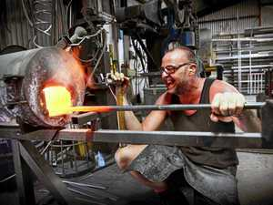 Couple find their groove with blacksmithing