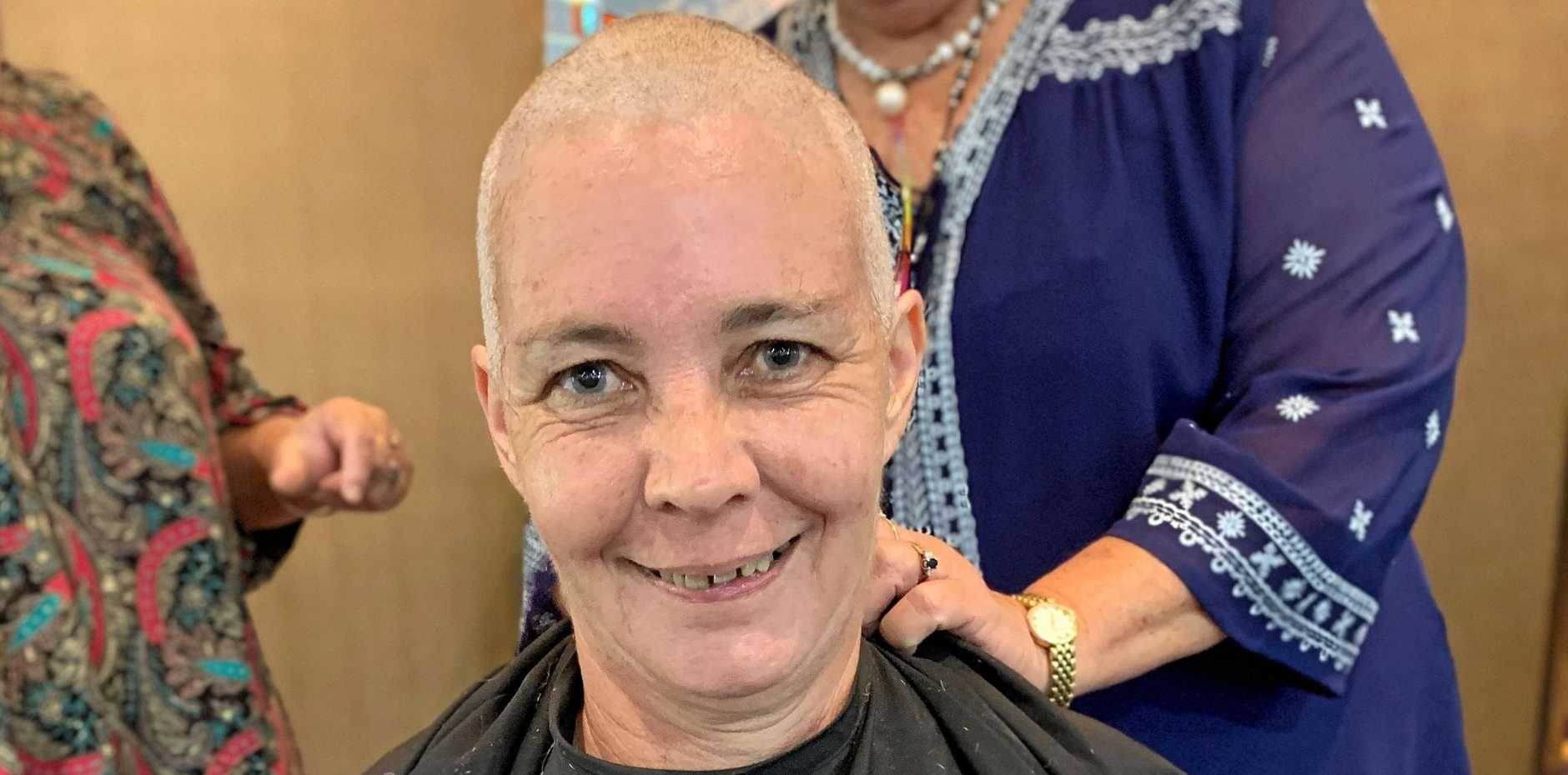 NEW YOU: Lynda Ward sports her new look after the clippers have done their thing at the World's Greatest Shave .