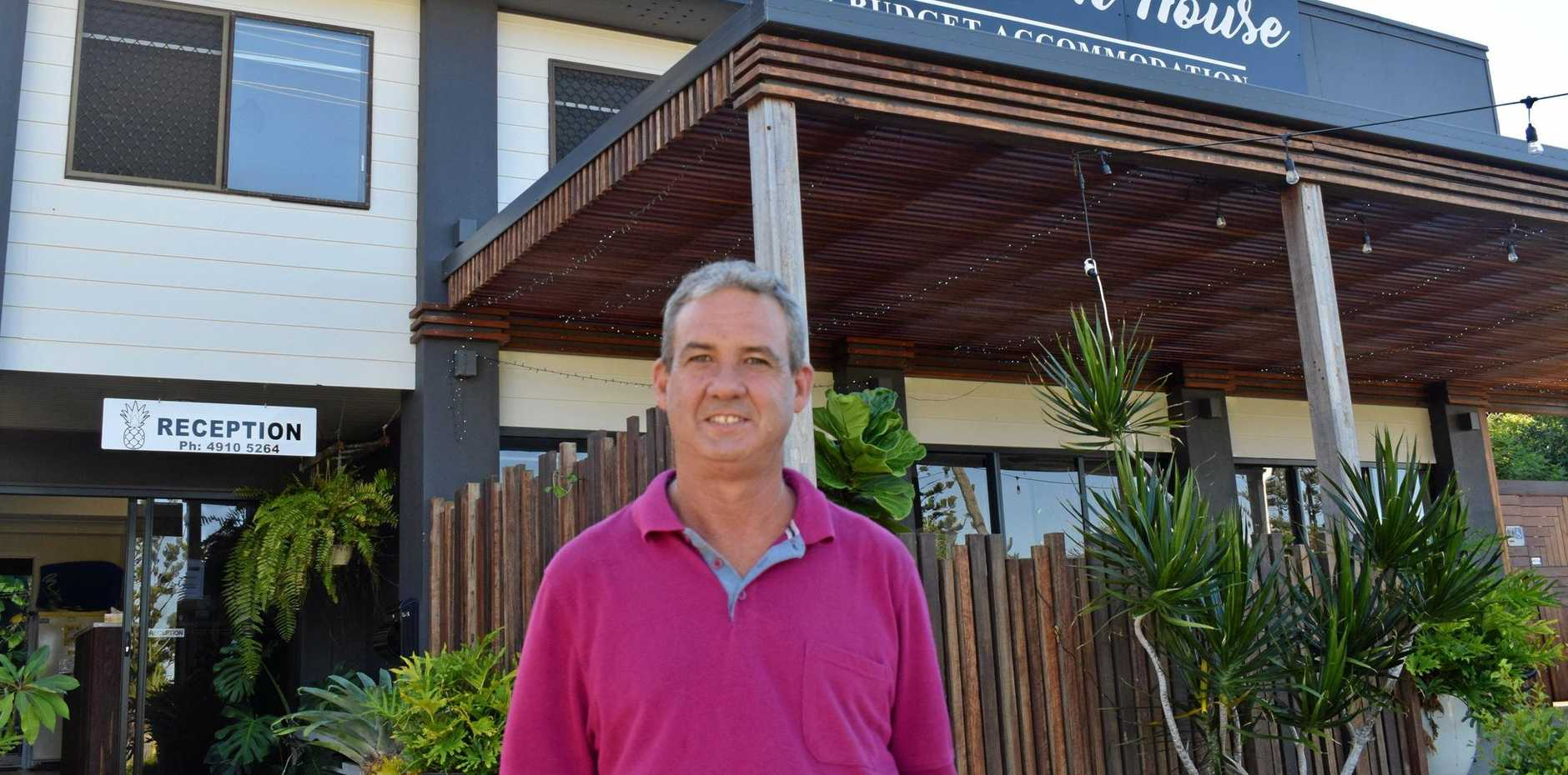 TOP SERVICE: Yeppoon Beach House's James Skuthorpe is stoked with the recent top rating of 9.6 on booking.com from good guest reviews.