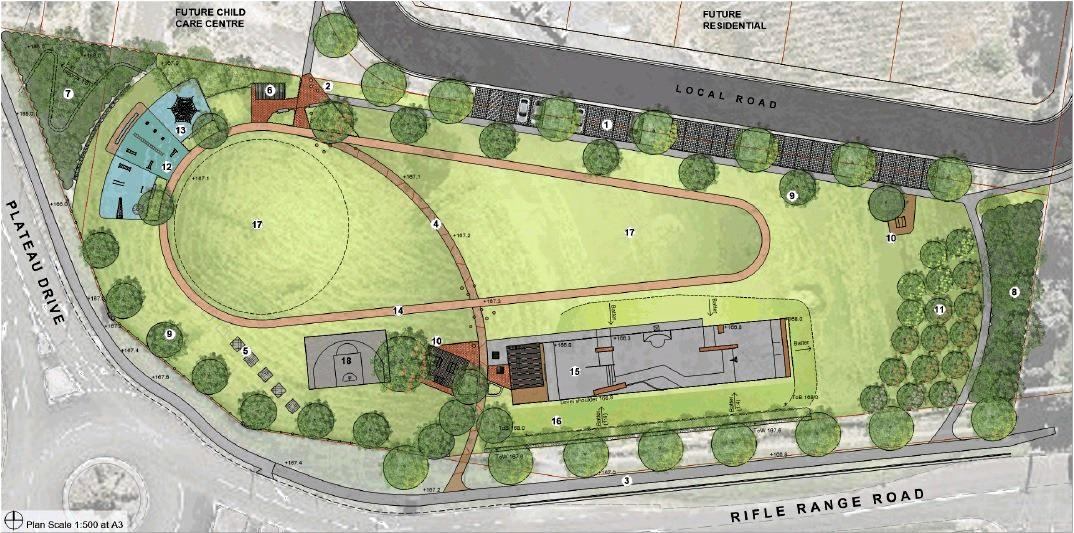 ON EXHIBITION: A concept design for the proposed Plateau Drive district park, which includes a state park.