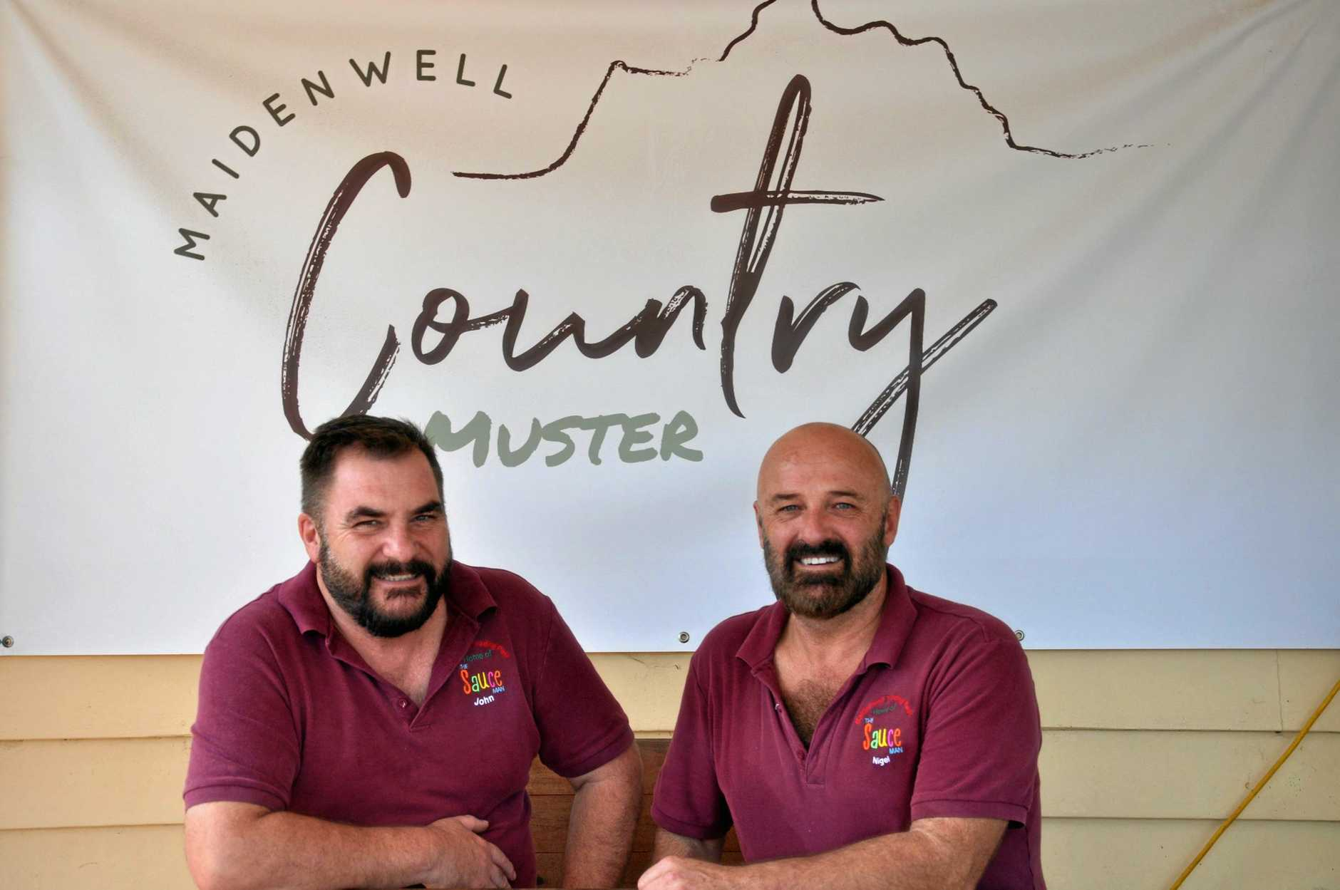 The men behind The Maidenwell Country Muster: Nigel Squibb and John Whitley.