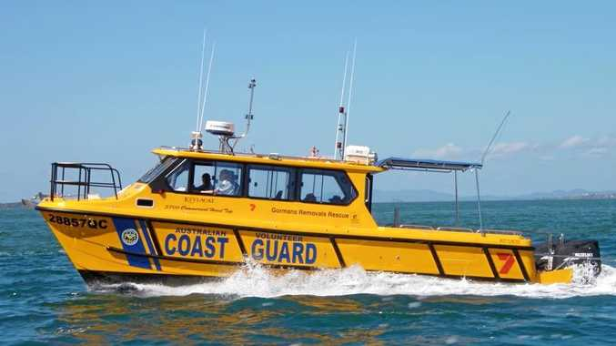 ACTION STATIONS: Coast Guard Yeppoon responded to a radio call from a 9 metre motor cruiser near Humpy Island on Sunday morning.