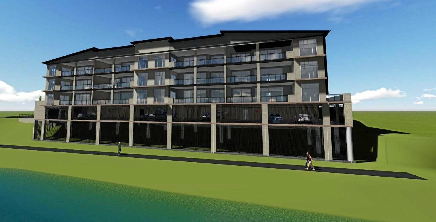 RIVERSIDE PROPERTY: Marina Quay Developments is behind a proposal, which would see 12 three-bedroom units within a four-storey building along the Burnett River. Photo: Contributed