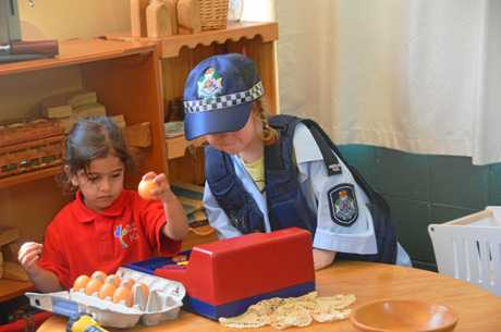 St John's kindy have a new Adopt-a-Cop.