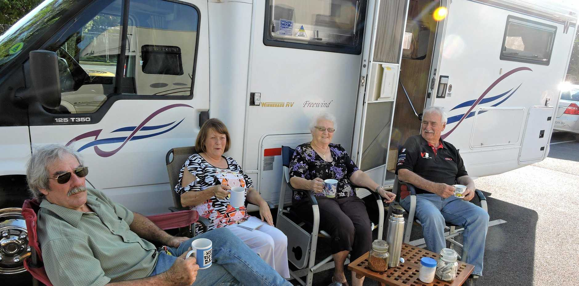 TOURISM: Experienced RV Motorhome campers Alan and Nan Ott and Brenda and Terry Zillmann were among those who fought for Maryborough to become RV Friendly.
