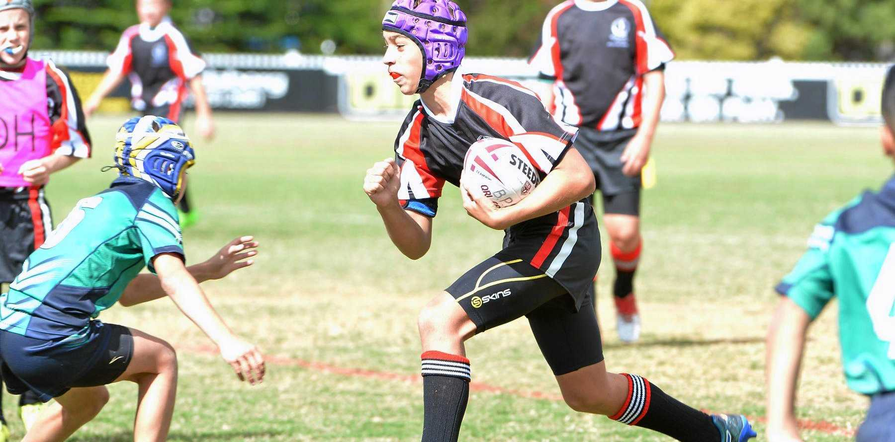 SCHOOL RUGBY: Tom Morcom plays in the Vic Jensen Cup and Salter Oval Bundaberg.