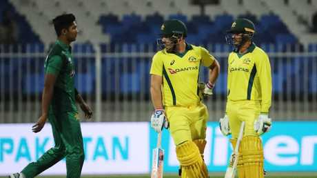 Finch and Usman Khawaja have impressed at the top of the order. (Photo by Karim Sahib/AFP)