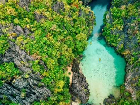 The Philippines' Palawan region is known for its stunning lagoons.