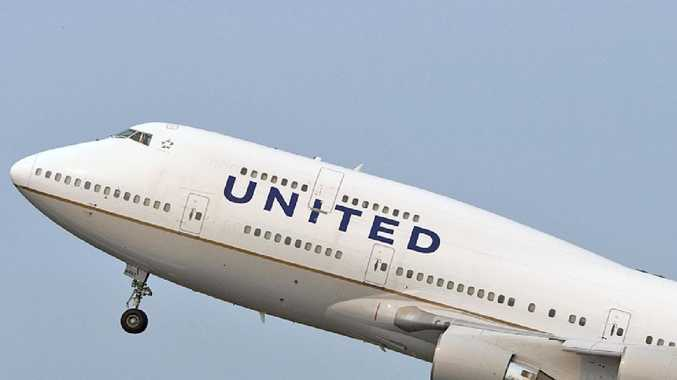 A United Airlines flight was forced to make an emergency landing in Noumea after leaving Melbourne today.
