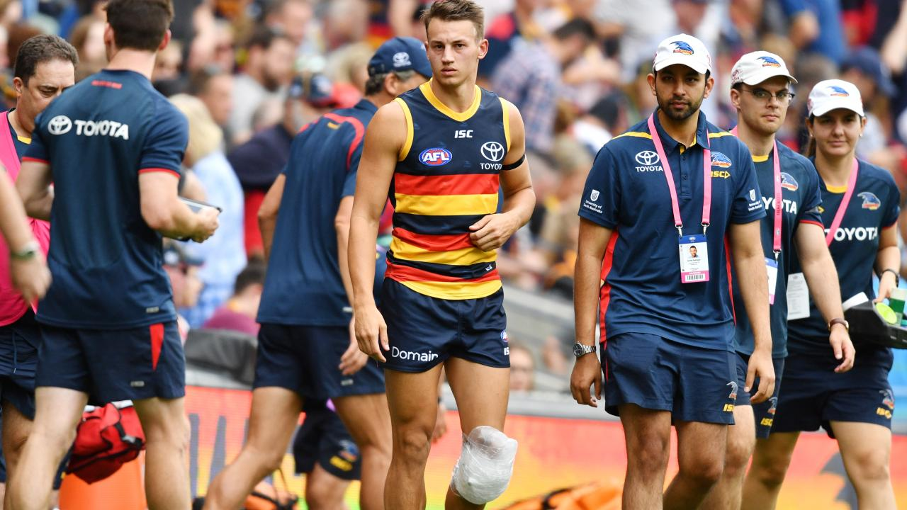 Tom Doedee has suffered a suspected ACL. Picture: AAP Images