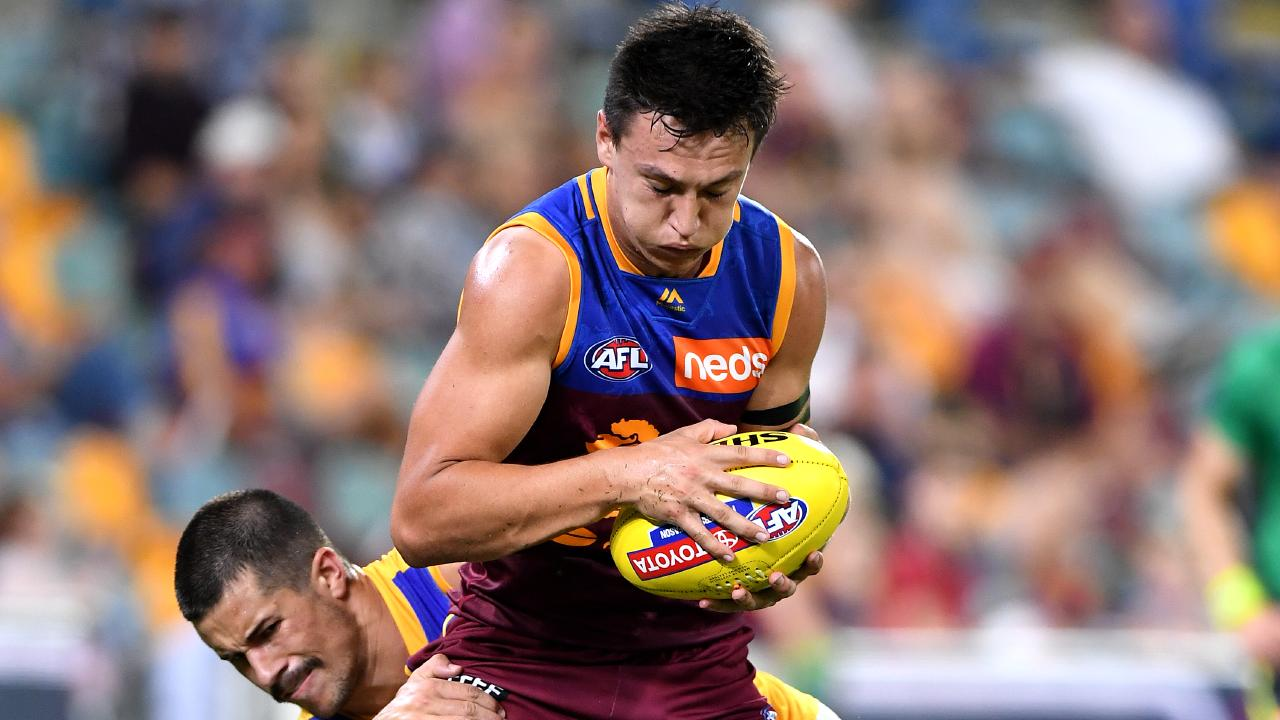 Hugh McCluggage says a raucous Gabba crowd helped the Lions seal the upset against the reigning premiers. Picture: Getty Images