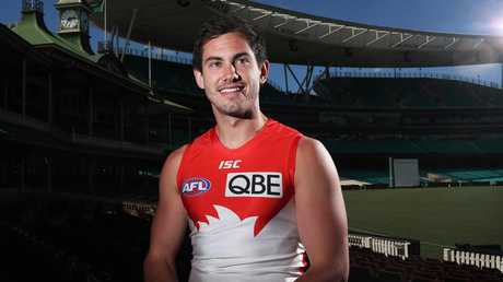Daniel Menzel signed for the Swans from Geelong during the off-season. Picture: Phil Hillyard.