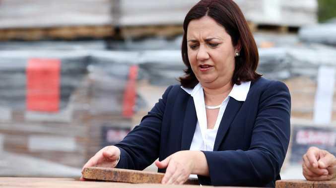 Premier Annastacia Palaszczuk visiting Claypave in Dinmore. Picture Tara Croser.