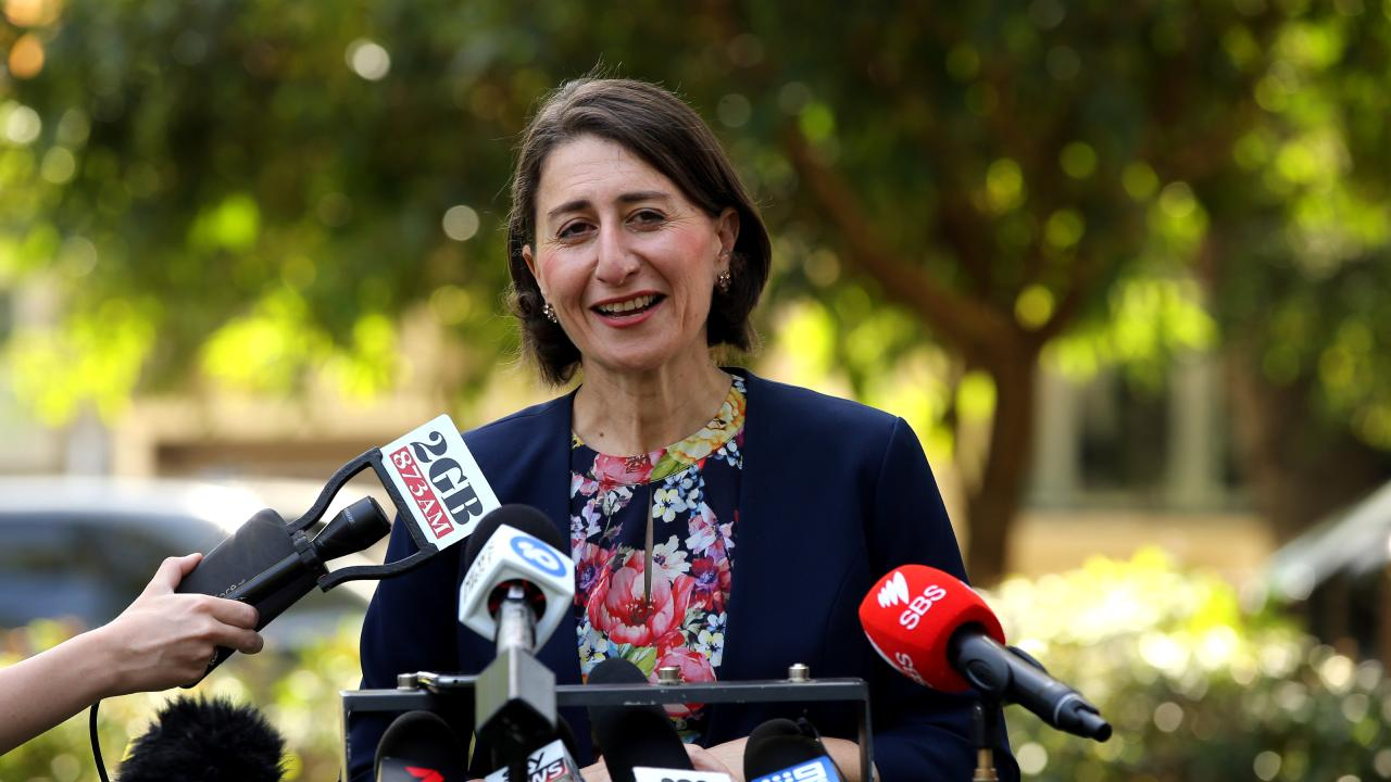 24/03/2019. Liberal Premier Gladys Berejiklian speaking at a press conference after winning the NSW State Election. Jane Dempster/The Australian