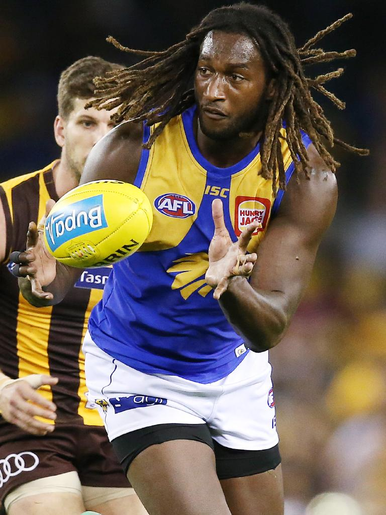 Nic Naitanui is on the comeback trail from a knee injury. Picture: Michael Klein