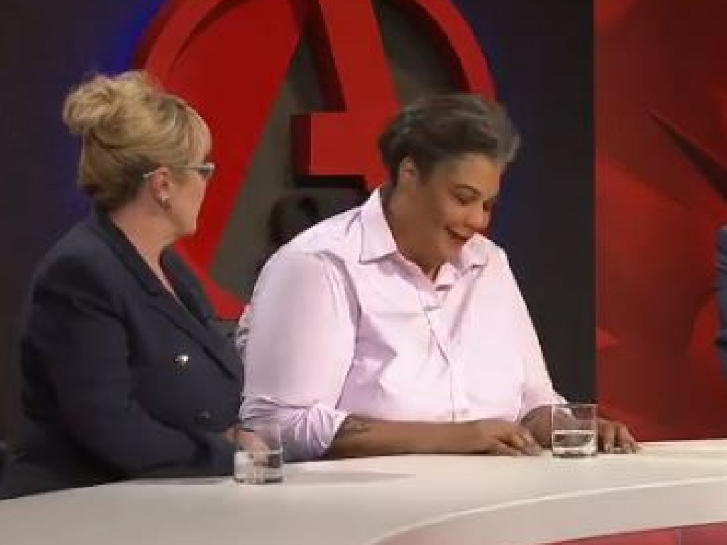 Liberal vice-president Teena McQueen's comments about white supremacy in Australia got a laugh from author Roxanne Gay. Picture: ABC
