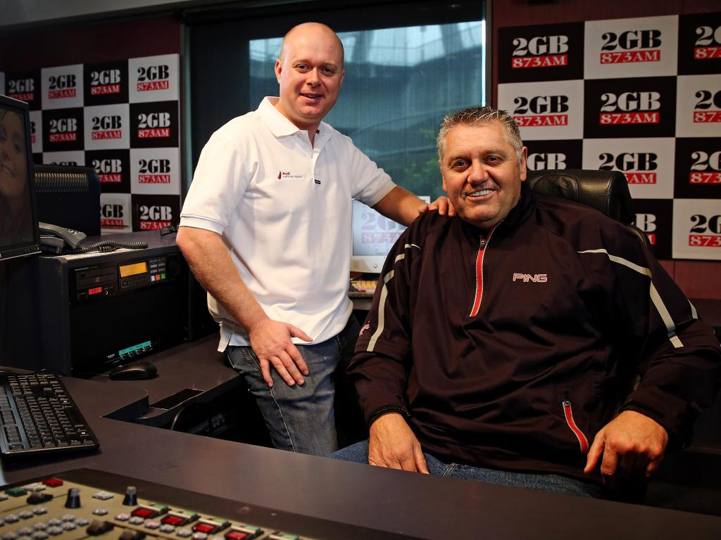 Former producer Chris Bowen with the broadcaster Ray Hadley.