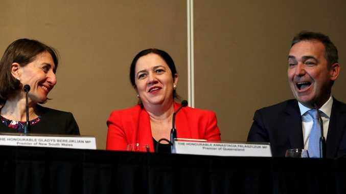 Premier of NSW Gladys Berejiklian, Premier of Queensland Annastacia Palaszczuk and Premier of South Australia Steven Marshall at COAG last year