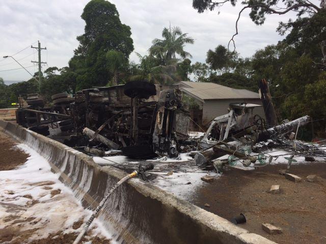 The crash at Bulli Pass. PHOTO: Live Traffic NSW