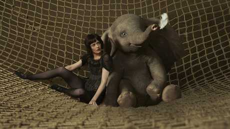 Eva Green as Colette with the titular Dumbo.