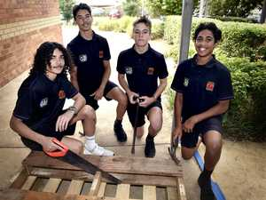Wilsonton students help upcycle pallets for sick kids