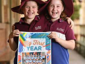 St Mary's prep students Sophie Baxter and Amelia