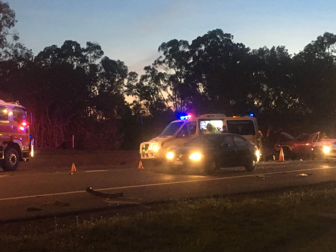 A man was lucky to escape with only minor injuries after reports he flipped his ute on Boyne Island Rd at 5.41pm on Monday evening.