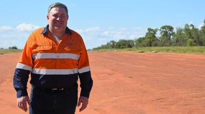 Adani Australia chief executive Lucas Dow on site