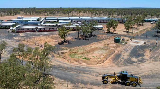 Adani's temporary workers camp