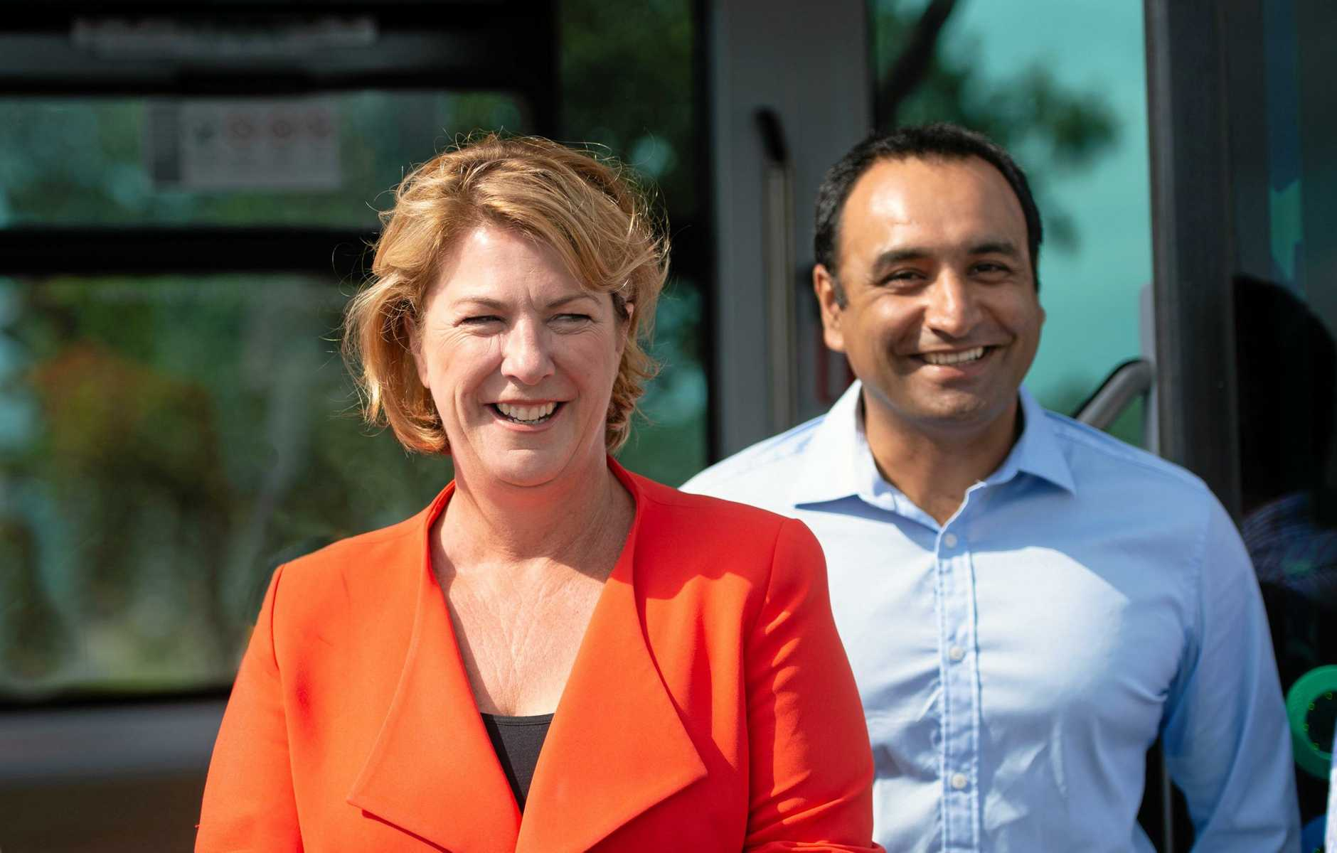 SEATS RETAINED: The Nationals Member for Oxley Melinda Pavey and newly elected Member for Coffs Harbour Gurmesh Singh.