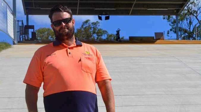 Gladstone Harbour City BMX track director Sheldon Cosford.
