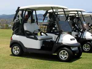 Drink-driver crashes golf buggy