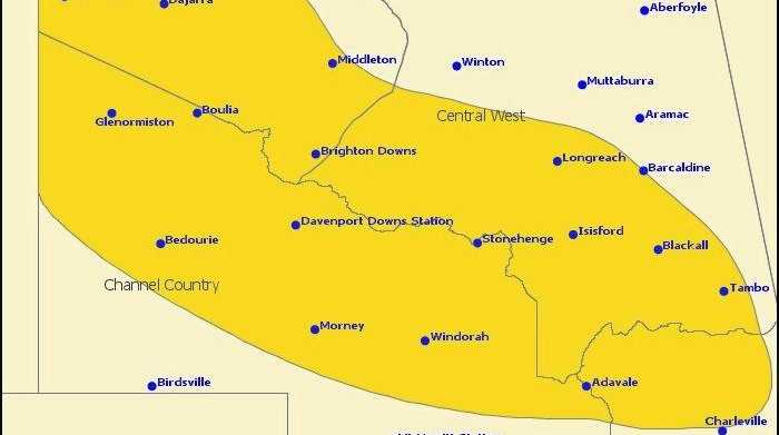 WEATHER WARNING: ex-tropical cyclone Trevor is producing heavy rain and damaging wind gusts over southwest Queensland. A flood watch alert is in place for much of the region.